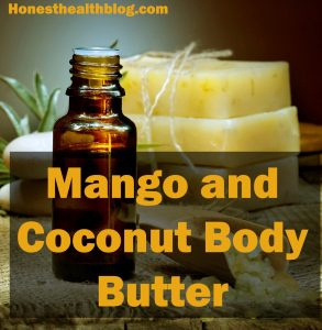 DIY HOMEMADE MANGO AND COCONUT BODY BUTTER RECIPE