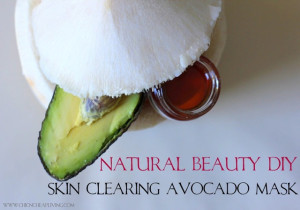 Honey, coconut and avocado face mask